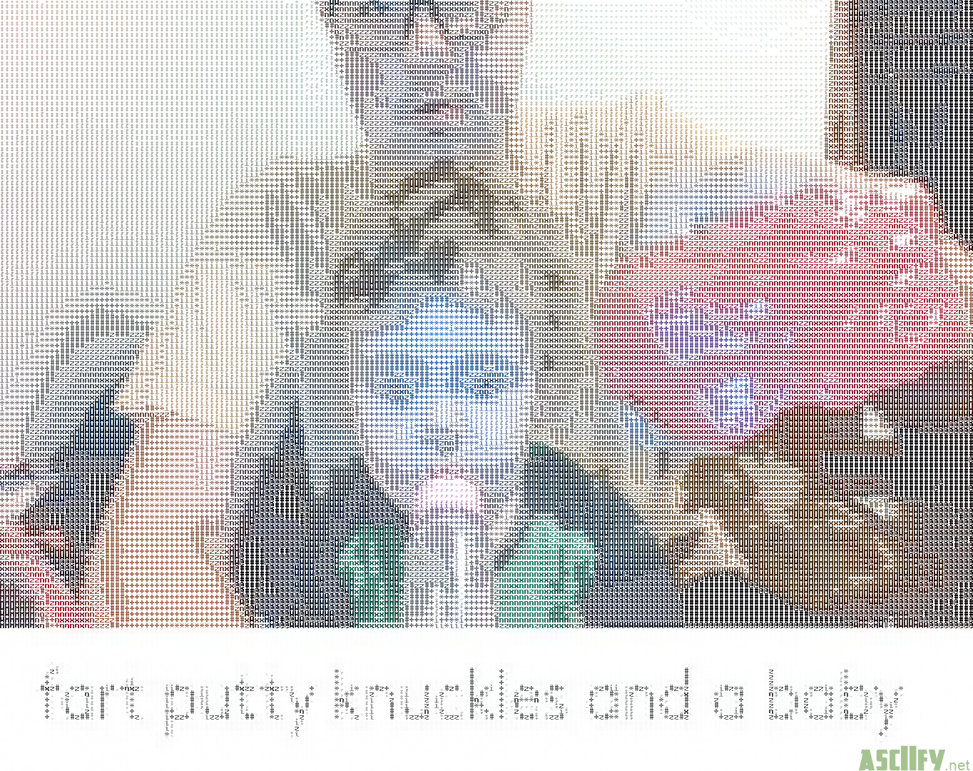 Fart putty knuckles and a baby