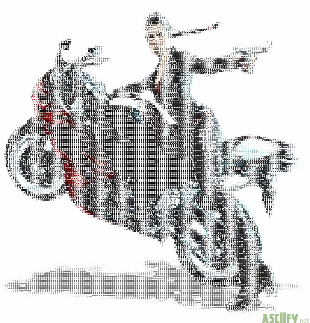 Lara croft on a motor cycle