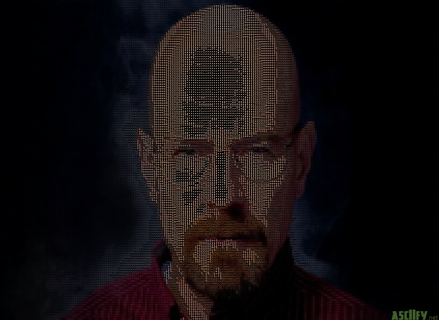 Walter white black background