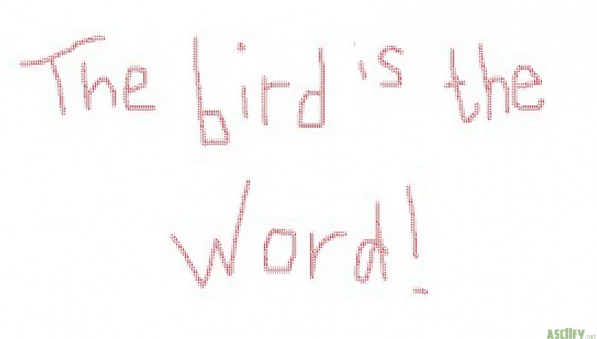 Asciifynet Bird