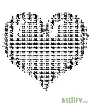 heart ascii