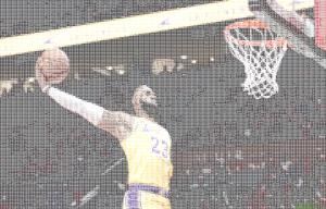 lebron keeps dunking