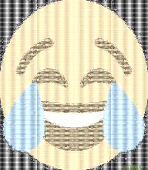 Laughing while crying emoji