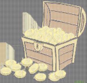 Treasure Chest (white background)