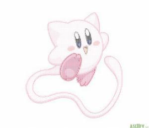 ASCII_Mew_Kirby