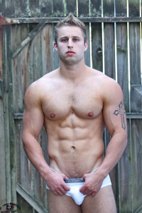 Muscular guy in tiny underpants
