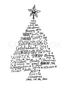 Christmas tree words