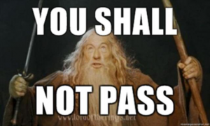 Asciifynet Gandalf You Shall Not Pass