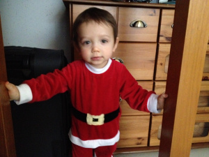 Tiny christmas elf helper