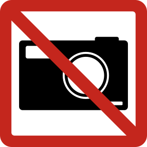 No photos logo sign