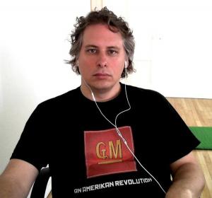 GM man listening to music