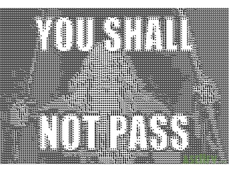 Asciifynet Gandalf You Shall Not Pass For Motd